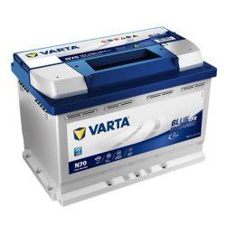 Varta Blue Dynamic EFB 12V 70Ah 760A Jobb+ autó akkumulátor
