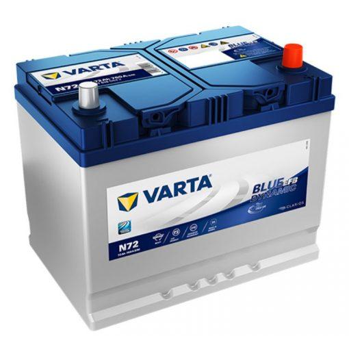 Varta Blue Dynamic EFB 12V 72Ah 760A Jobb+ ázsiai autó akkumulátor - 572501