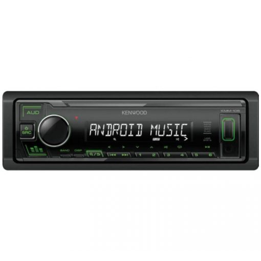 Kenwood-KMM-105G-USB-autoradio-zold-gombszin