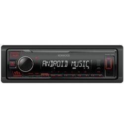 Kenwood-KMM-105R-USB-autoradio-piros-gombszin